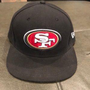 Black San Francisco 49er new ear 7 3/8 pro fit hat